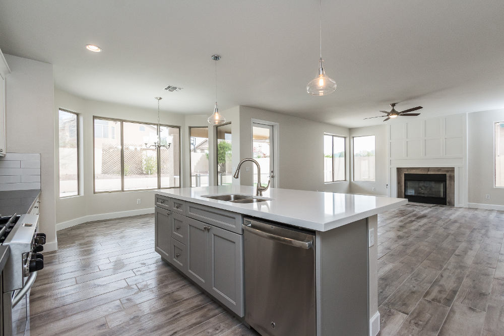 phoenix-az-full-kitchen-remodel-with-hardwood-floors-new-granite-countertops-fixtures-and-dining-room-with-fireplace-after-complete-kitchen-renovation